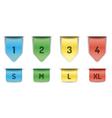 Ribbon bookmarks vector