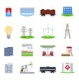 Energy icons set vector