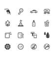 Gas station element black icon set on white bg vector