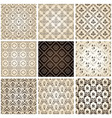 Seamless vintage backgrounds set brown baroque pat vector
