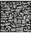Raphip hop symbols - doodles set vector