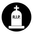 Grave symbol button vector