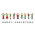 Merry xmas celebration vector