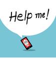 Help me smartphone addiction concept cartoon vector