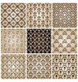 Seamless vintage backgrounds set brown baroque wal vector