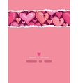 Red valentines day hearts vertical torn seamless vector