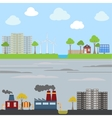 Industrial and eco city concept vector