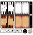 Backgammon game vector