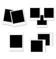 New photo frame set vector