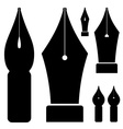 Old ink pen nibs vector