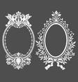 Vintage floral decorative design elements vector