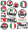 I love italy ink rubber stamp set vector