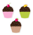 Cupcake labels vector