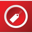 String tag icon on red vector