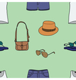 Seamless of summer clothes vector