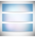 Set of horizontal banners abstract multicolored vector