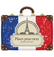 Paris suitcase vector