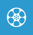 Video film icon white on the blue background vector