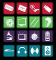 Movie and music entertainment icon basic style vector