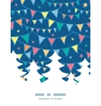 Colorful doodle bunting flags christmas tree vector