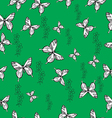 Pattern with butterflies and flowers not seamless vector