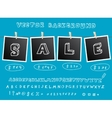 Sale background with hanging images vector