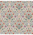 Arabesque seamless pattern with carnations vector