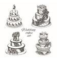 Wedding cakes set vector