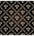 Seamless vintage wallpaper background floral black vector