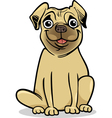 Cute pug dog cartoon vector