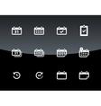 Calendar icons on black background vector