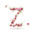 Floral letter z for your design vector