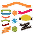 Set of retro ribbons and labels banner vector