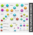 Collection pack of 9 business abstract 3d digital vector