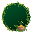 Frame for st patricks day vector