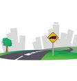 Highway city skyline vector