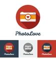 Flat modern minimalistic photo studio logo vector