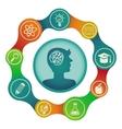 Education concept - brain and creativity vector
