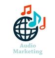 Audio marketing icon vector
