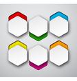 Paper white hexagonal notes vector
