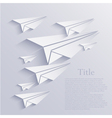 Origami airplane icon background vector