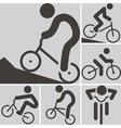2283 cycling bmx icon vector