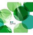 Bright green geometric modern design template vector