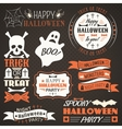 Halloween vintage set - labels ribbons vector