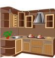 Kitchen unit vector