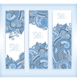 Set of blue colour decorative flower template vector