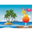 Cocktail on the beach vector