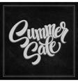 Summer sale the inscription on the blackboard vector