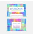 Abstract pixel squared business cards vector