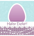 Easter egg floral card with lace and beads vector
